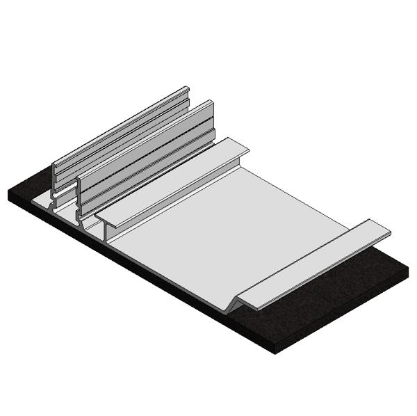 Afbeeldingen van Alu paneelondersteuning achter ValkPro+ (basis) 150mm PVC