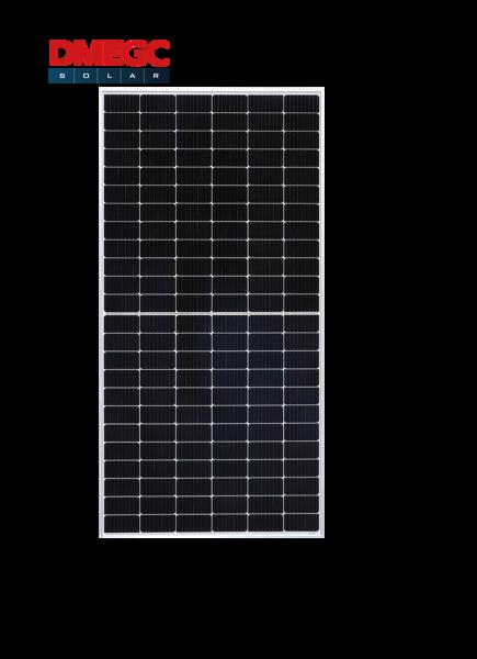 Afbeeldingen van DMEGC 450W Mono half cel zilver frame witte backsheet