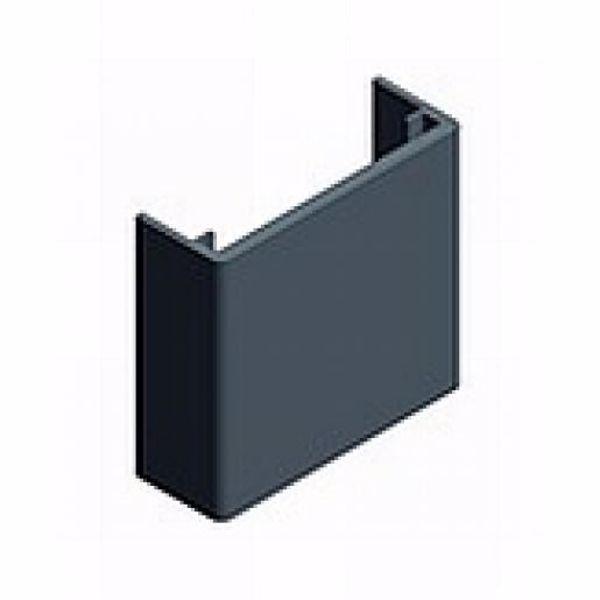 Afbeeldingen van Zwart gecoate eindkap 35 mm tbv paneelklem